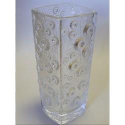 Váza - Jiří Řepásek, lisované křišťálové sklo