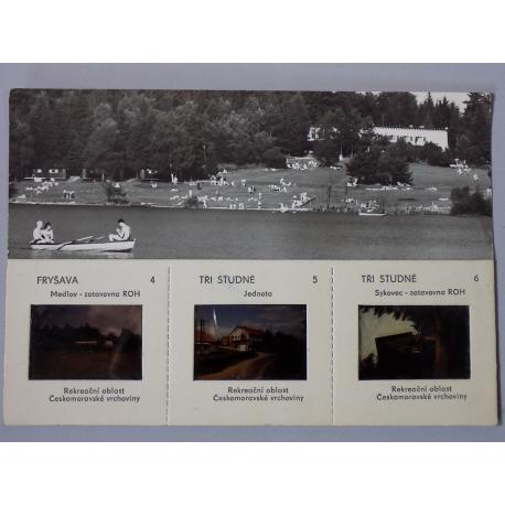 Tři Studně -  pohlednice s 3 diapozitivy