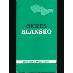Mapa - Okres Blansko