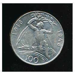 Mince 100 Kčs - Třicáté výročí vzniku Československé republiky