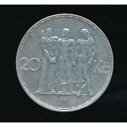 Mince 1934 - 20 Kč