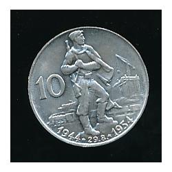 Pamětní mince 10 Kčs - Desáté výročí Slovenského národního povstání