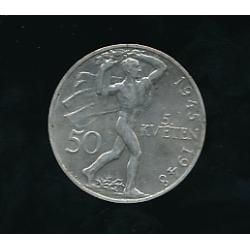 Mince 50 Kčs - Třetí výročí pražského povstání 1945 - 1948