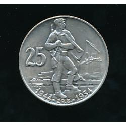 Mince 25 Kčs - Desáté výročí Slovenského národního povstání