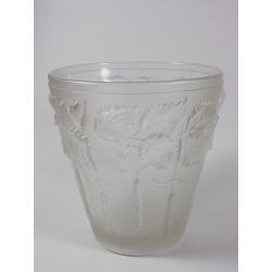 Váza - matované sklo -  motiv bříza