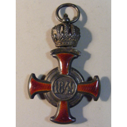 Franc Josef I., záslužný kříž, stříbrný s korunou