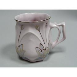 Hrnek , Růžový porcelán - Chodov