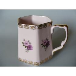 Hrnek - růžový porcelán - Stružná