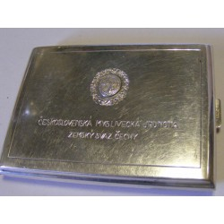 Tabatěrka - stříbro - Československá myslivecká jednota - datovaná 1948